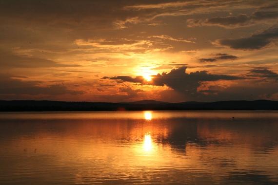 Upea auringonlasku Tuorisjänkällä