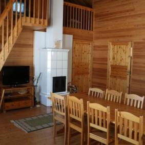 Ison mökin tupa_Large cabin living room